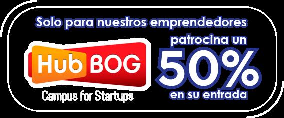 50% dcto. para emprendedores HubBOG