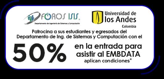50% patrocinio para estudiantes y egresados Ing. Sistemas y Computación